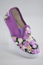 Espadrile fetite Purple Flowers