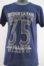 Tricou barbati Brooklyn bleumarin