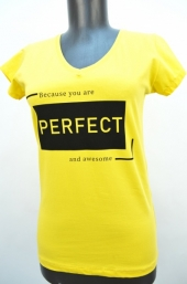 Tricou f.Perfect galben